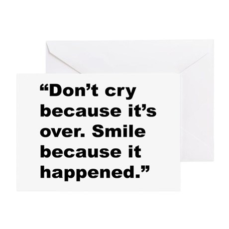 Smile Don't Cry Quote Greeting Card by giftbud
