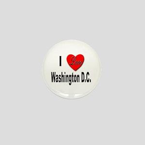 I Love Washington D.C. Mini Button