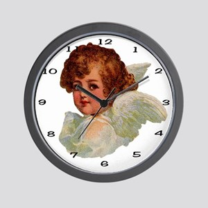 014 Illustration Angel Clock Wall Clock