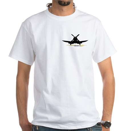 Black Corsair White T-Shirt