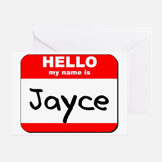 Hello my name is Jayce Greeting Card