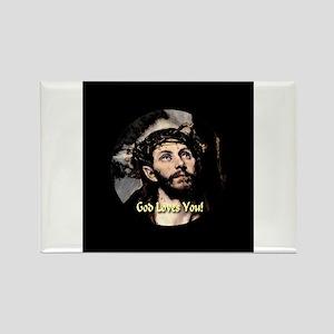 God Loves You! Rectangle Magnet (100 pack)