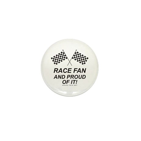 Checker Flag Proud Race Mini Button (10 pack)