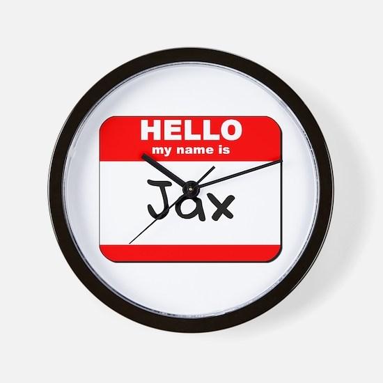 Hello my name is Jax Wall Clock