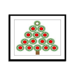 Mechanical Christmas Tree Framed Panel Print