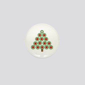 Mechanical Christmas Tree Mini Button