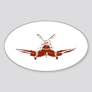 Red Corsair Oval Sticker