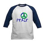 Peace Sign Kids Baseball Tee