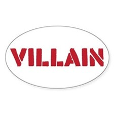 Villain Sticker (Oval)