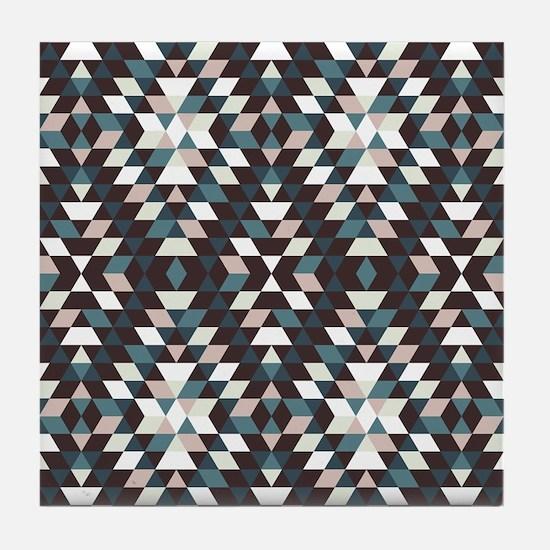 Native Diamond Triangle Pattern Tile Coaster