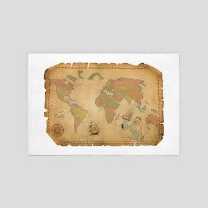 Ancient Mythology World Map 4' x 6' Rug