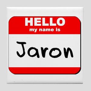Hello my name is Jaron Tile Coaster