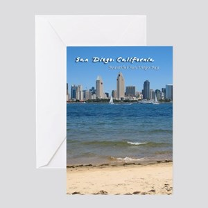 """San Diego, """"Beautiful San Diego Bay"""" Greeting Card"""