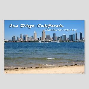 "San Diego, ""Beautiful San Diego Bay"" Postcards (Pa"