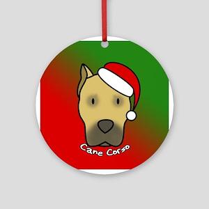 Cartoon Fawn Cane Corso Christmas Ornament