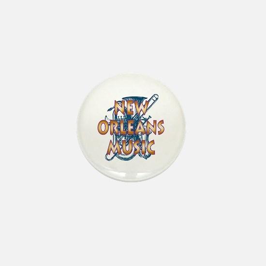 Gold New Orelans Music Mini Button