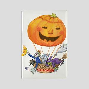Pumpkin Balloon Rectangle Magnet