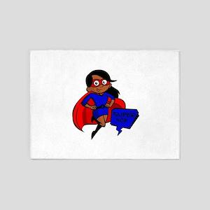 black super mom 5'x7'Area Rug