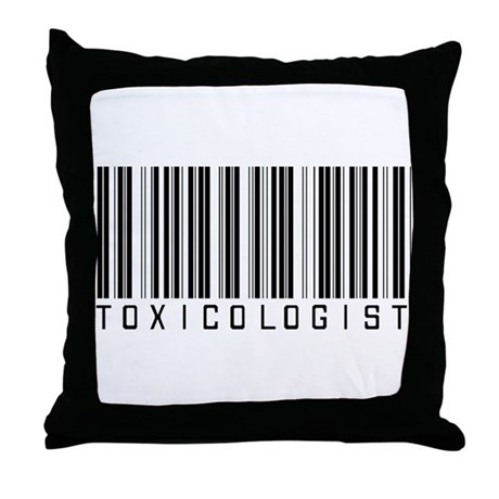Toxicologist Barcode Throw Pillow