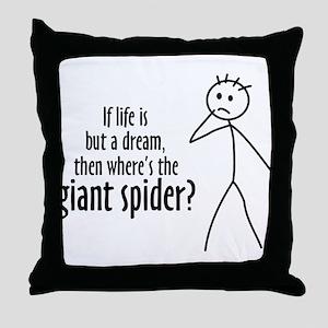 Giant Dream Spider Throw Pillow