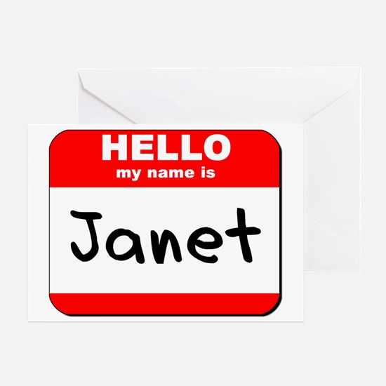 Hello my name is Janet Greeting Card