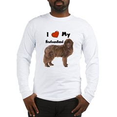 I Love My Newfoundland Long Sleeve T-Shirt