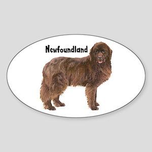 Newfoundland Oval Sticker