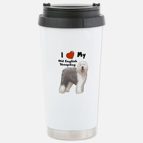 I Love My English Sheepdog Stainless Steel Travel