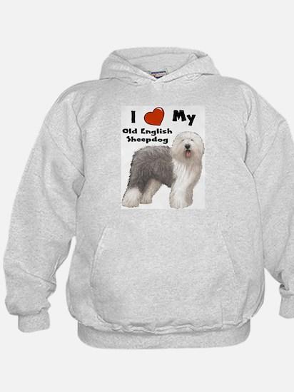 I Love My English Sheepdog Hoodie