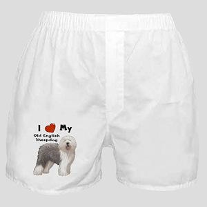 I Love My English Sheepdog Boxer Shorts