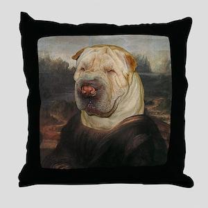 Shar Pei MONA LISA Throw Pillow
