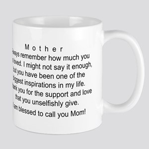 Mother's Day Card, I Love You Mugs
