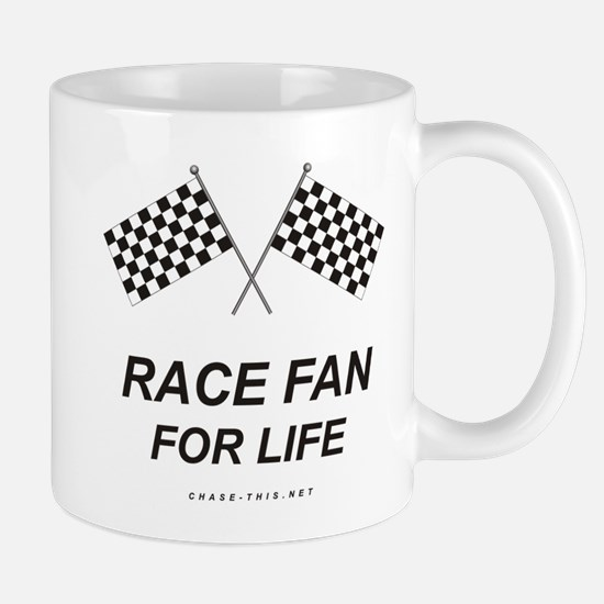 Checker Flag Proud Race Mug (left side)