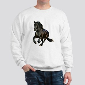 Black Stallion Horse Sweatshirt