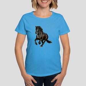 Black Stallion Horse Women's Dark T-Shirt