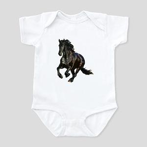 Black Stallion Horse Infant Bodysuit