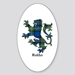 Lion-Rollo Sticker (Oval)