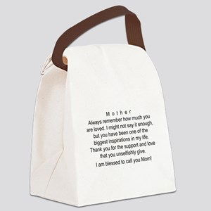 Mother's Day Card, I Love You Canvas Lunch Bag