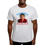 Sarah Palin Not Hillary Light T-Shirt
