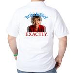 Sarah Palin Not Hillary Golf Shirt