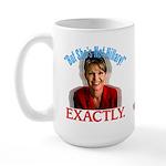 Sarah Palin Not Hillary Large Mug