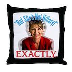Sarah Palin Not Hillary Throw Pillow