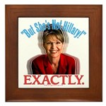 Sarah Palin Not Hillary Framed Tile