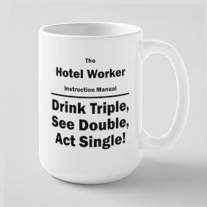 Hotel Worker Large Mug