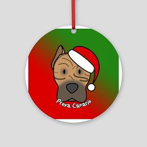 Cartoon Presa Canario Christmas Ornament
