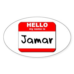 Hello my name is Jamar Oval Decal