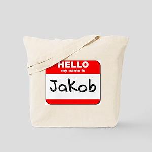 Hello my name is Jakob Tote Bag
