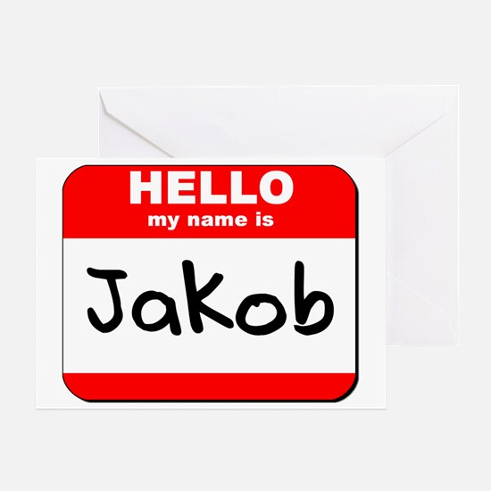 Hello my name is Jakob Greeting Card
