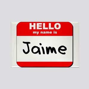 Hello my name is Jaime Rectangle Magnet