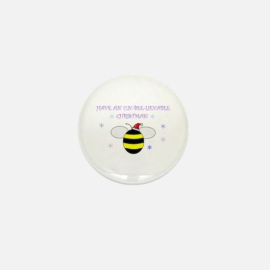 Un-bee-lievable Christmas! Mini Button